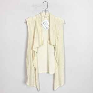 Anthropologie | knit drape front cardigan vest L